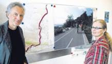 Chance nutzen: Horst Spreckelmeyer und Beate Engelmann von den Weserfreunden setzen sich für einen Radschnellweg entlang der Weser ein, wie ihn exemplarisch das Foto von einem Weg entlang der Riviera zeigt. [Mindener Tageblatt]