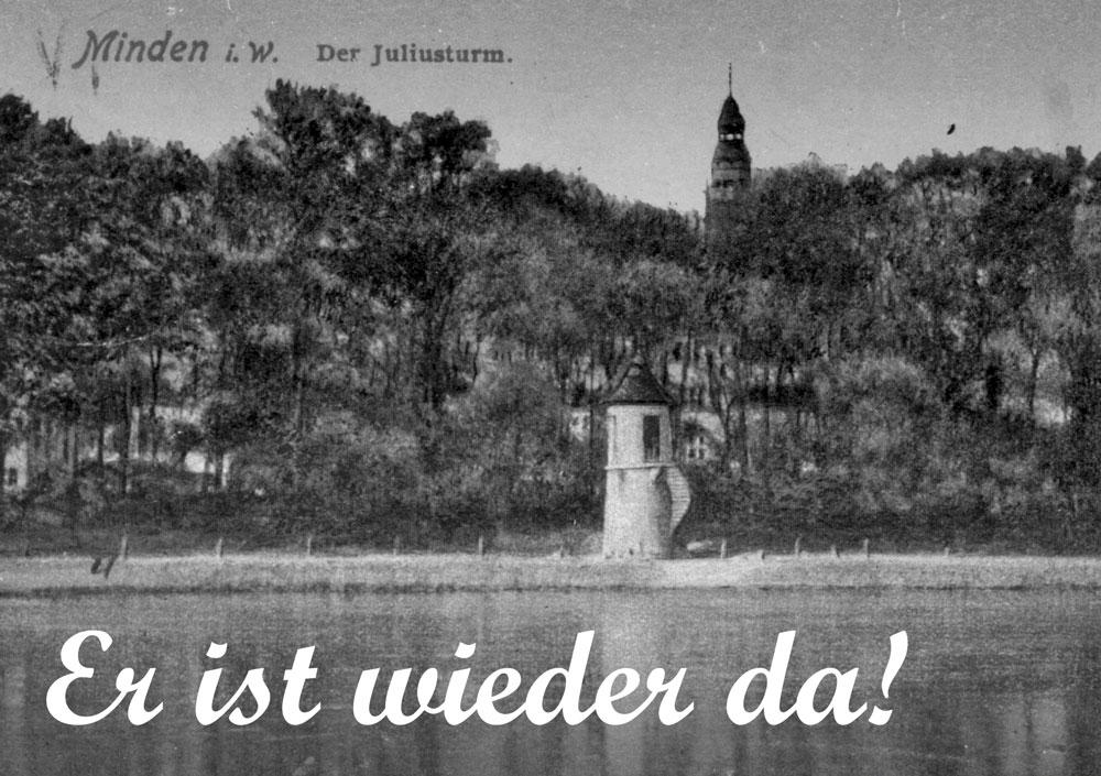 Der Juliusturm - der alte Stadtpegel in Minden