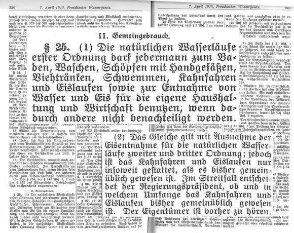 Das preußische Wassergesetz von 1913
