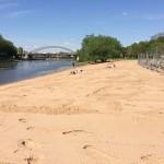 neuer Sand für den Weserstrand in Minden zur Saison 2016