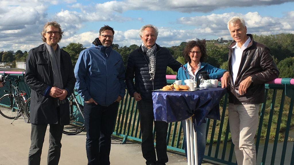 Pausenbrot an der Weser