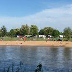 Abstand halten auch am Weserstrand in Minden
